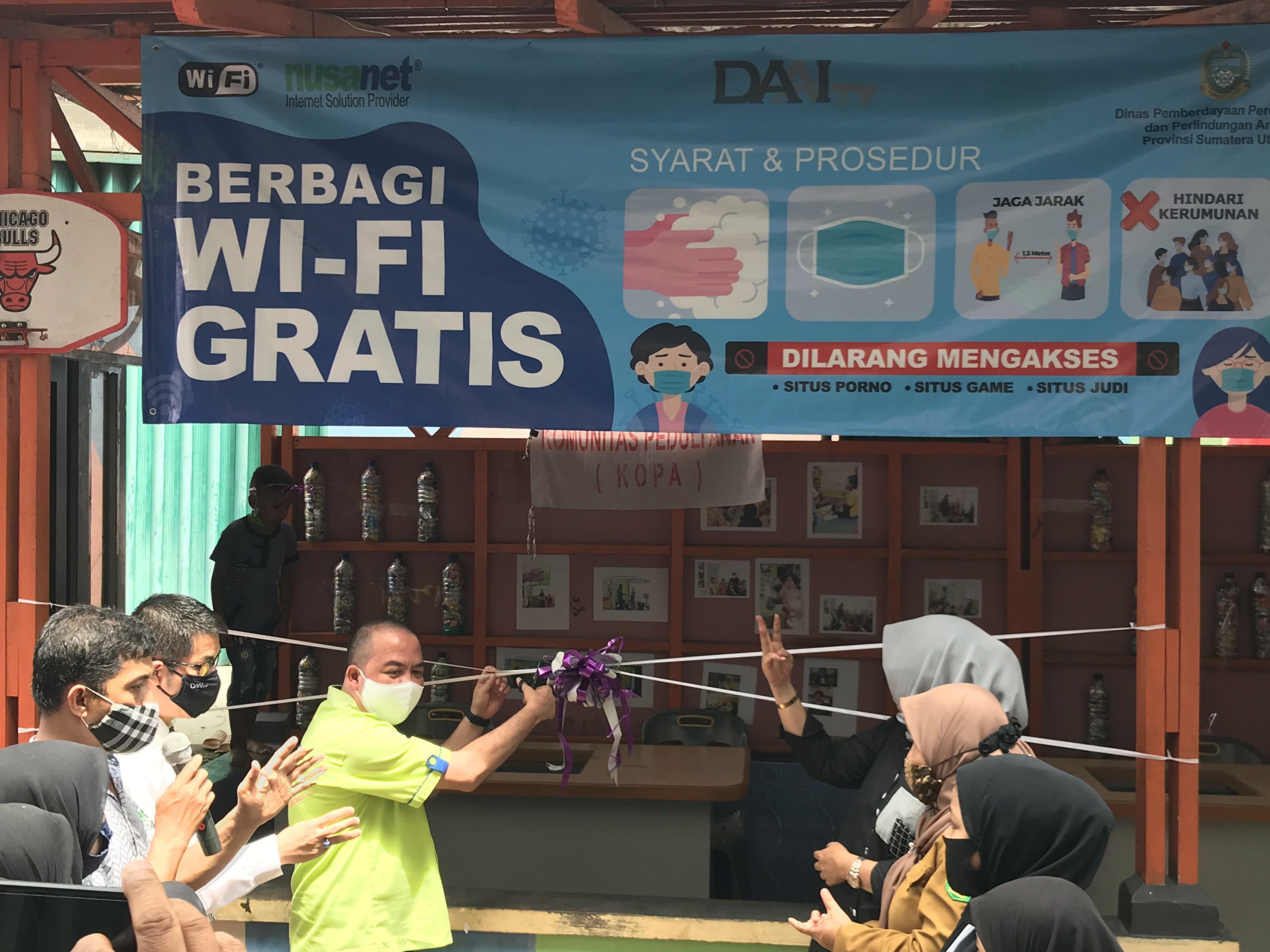 Event Peresmian Internet Gratis Kepada Komunitas Peduli Anak Di Medan Maimun